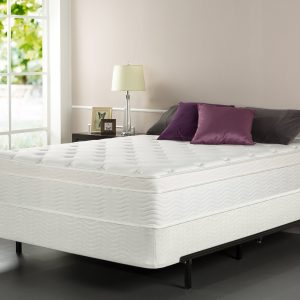 corner view Sleep Master iCoil 13 Inch Euro Top Spring Mattress