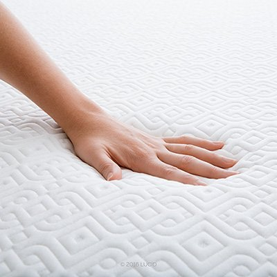 lucid memory foam mattress fluffy comfort